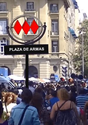 Metro Plaza de Armas Santiago